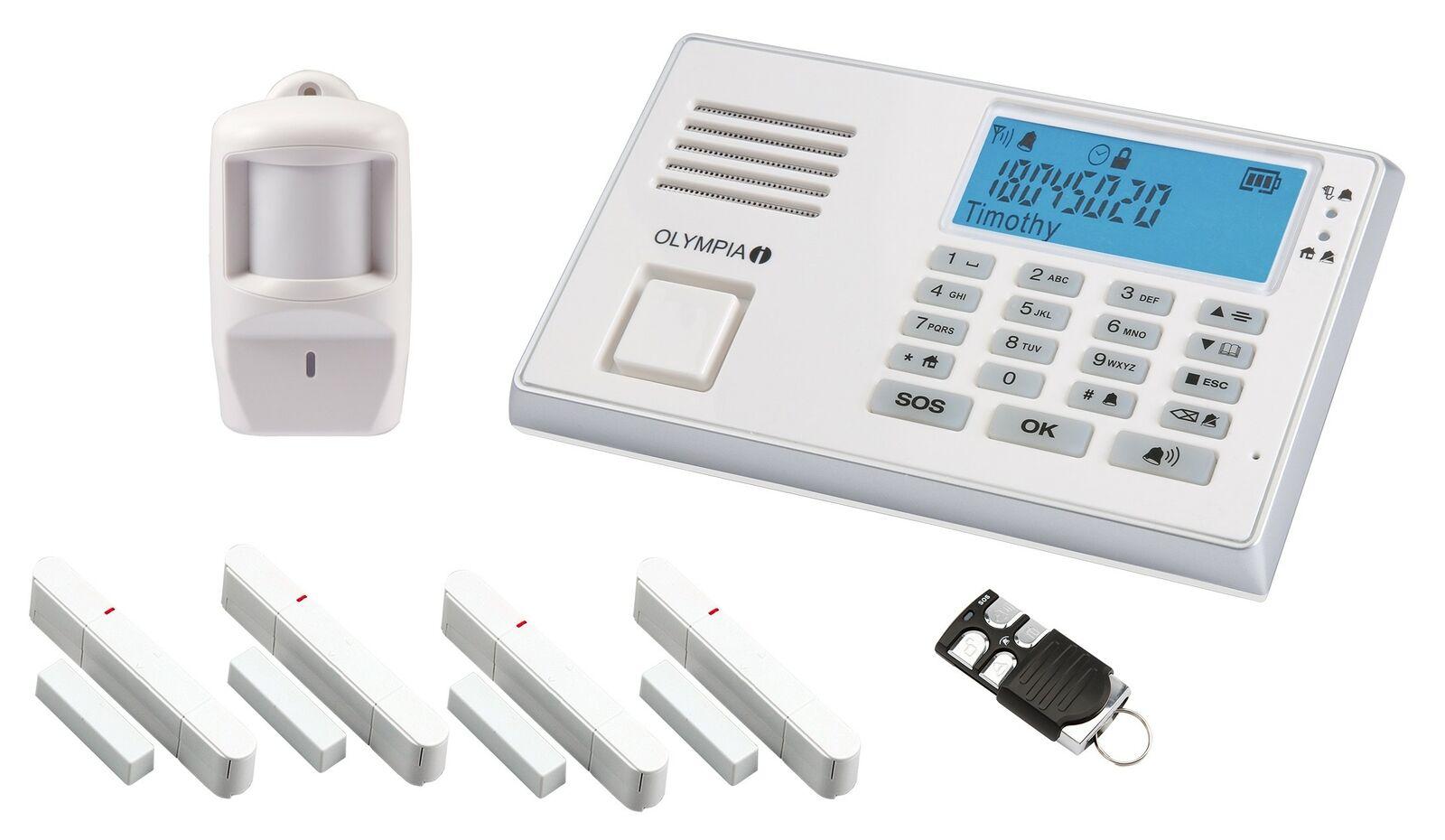 OLYMPIA Alarmanlage GSM Funk Haus Protect 9066 Smart  Plug & Play jetzt mit App