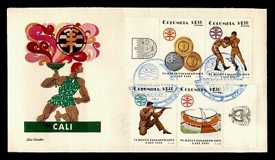 DR WHO 1971 COLOMBIA FDC 6TH PAN AMERICAN ATHLETIC GAMES CALI C244419