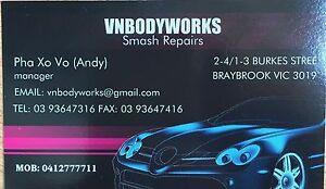VNBODYWORKS SMASH REPAIRS Braybrook Maribyrnong Area Preview