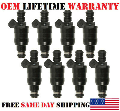 Genuine 8x OEM Lucas Fuel Injectors For BMW 740i/740iL/840Ci/540i/530i V8