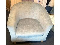 Dunelm Maxwell Tub Chair in Duck Egg Blue in As New Condition RRP £99