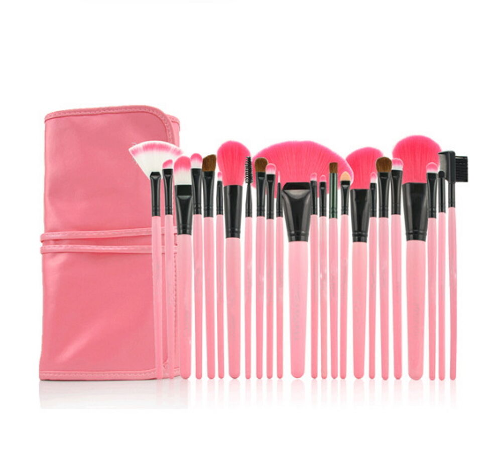 Pro 24 Pcs Makeup Brushes Cosmetic Tool Kit Eyeshadow Powder Brush Set Case Health & Beauty