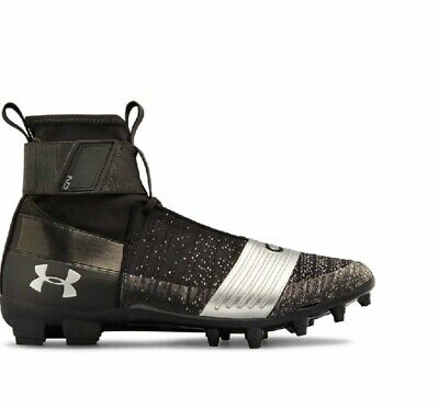 7d00ff57c New Mens Under Armour Cam Newton C1N MC Football Cleats Black/Silver Size  10.5