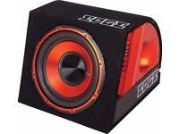 "Edge EDB12 12"" V2 Active Subwoofer Enclosure RMS 300W Edge Amplifier Wiring Kit"