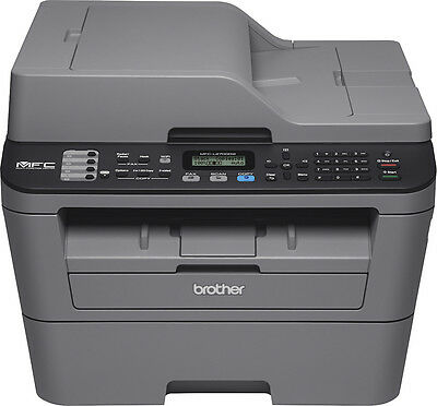 Brother - MFC-L2700DW Wireless Black-and-White All-in-One Laser Printer - Gray