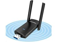 Wifi Adapter/ Dongle AC1300 USB, 5dBi Dual Band 2.4/5.8GHz