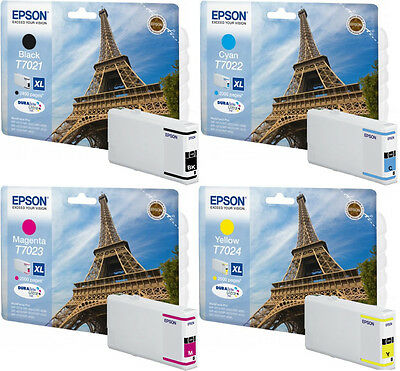 4x ORIGINAL EPSON TINTE PATRONEN XL WF WORKFORCE PRO WP4015DN WP4025DW WP4095DN online kaufen