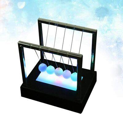Luminous Newtons Cradle Pendulum Steel Balance Ball Desk Toy Office Desk Decor