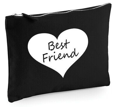 Heart Best Friend Make Up Bag, gift idea birthday gifts presents for