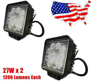 2 x 27W 12V&24V LED Boat/Marine/RV/ATV Spot Lamp Lights Waterproof *USA*