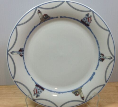 Oneida Oneidacraft On The Sea Stoneware Dinner Plate Ocean Nautical Theme