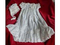 CHRISTENING GOWN WITH BONNET - Brand New.