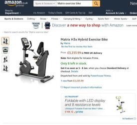 Ex Gym (Commercial Quality) Exercise Bike
