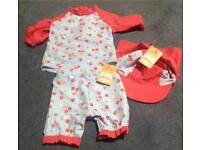 Upf 50/40 baby costume size 3-6 mnth new