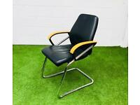 Original sedus full leather meeting chair cheap office furniture harlow essex london
