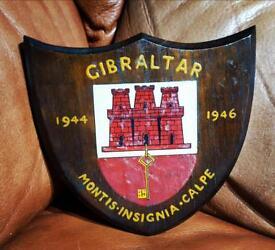 Gibraltar wooden shield