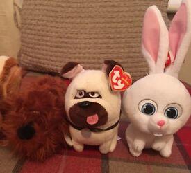 Secret life of pets soft toys