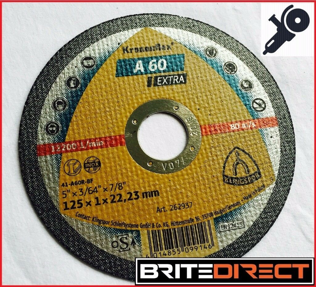 Cuttind discs A-60 Extra KLINGSPOR 125 x 1mm ( 5 ) stainless steel, metal, universal application