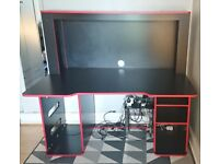 Argos Home Cornex Gaming Desk - Black
