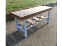 Handmade Rustic Reclaimed Kitchen Island Breakfast Bar Table Hand Painted