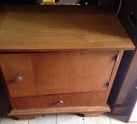 French oak bedside cabinet