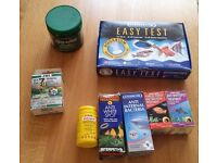 Assortment of Fish Treatments/Tests for Fungal Treatments and Water Tester kit