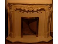 Marble style fire surround and hearth