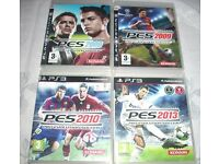 PS3 Playstation Games Bundle - Football PES x 4 off - ONLY £4