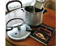 Vintage Presto Pressure Cooker Model 708B with Accessories & Cook Book - Jam Marmalade Making