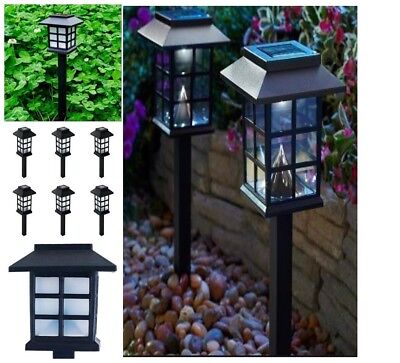 6-Pack Solar LED Pathway Light Set Outdoor Walkway Yard Path Landscape Lighting