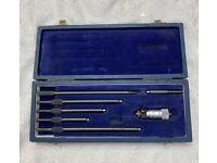 Inside Micrometer Set in Storage Case GKN Shardlow Metrolgy