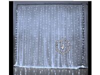 Christmas waterfall lights white 99 inch long new box opened didn't fit windows wall wedding