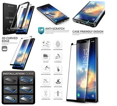 BEST Edge Full Tempered Glass Samsung Note 8 Screen Protector With Mounting