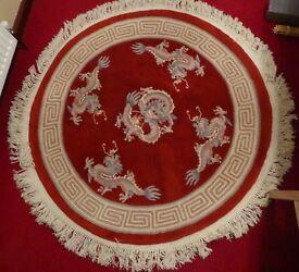 Circular Chinese Rug, stunning.