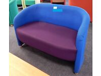 Two tone upholstered 2 seater sofa (2available)