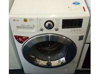 Lg 9 kg washing machine in white