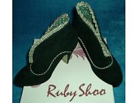 RUBY SHOO Shoes - Ankle Boots Black Suede Size 3 36 Postage possible