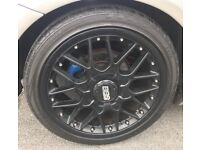 """BBS ALLOYS IN BLACK 18 INCH """" WITH SPACERS"""