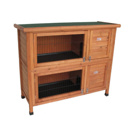 Rabbit guinea pig double hutch new