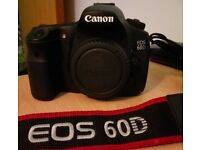 Canon EOS 60D DSLR camera body only (Made in Japan)