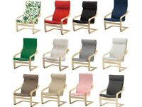 IKEA POANG Armchair Slipcover Replacement Chair Cushion & Slip Cover,12 Colours