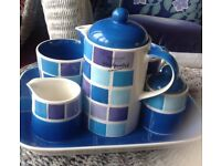 WHATARD BONE CHINA COFFEE OR TEA SET ,LOVELY IN PERFECT CONDITION NICE TO PUT IN GUEST ROOM PREETY