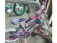 Girls 14 inch bike with free Stabilizers