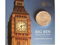 £100 Big Ben Silver coin