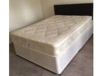 Double divan bed with mattress and headboard RRP £250