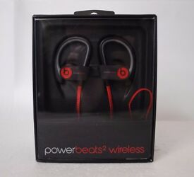 Powerbeats2 Wireless in Black/Red Brand New Factory Sealed £120