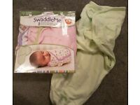 Baby Girls Summer Infant Swaddle Blankets x 4 EXCELLENT CONDITION £10