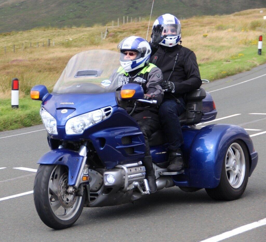 Honda Goldwing Trike, GL1800 with Champion Trikes full body kit, blue.