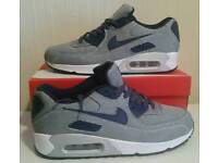 New Nike Air Max 90 - new with box - denim color - UK sizes: 6, 7, 8, 9, 10 & 11