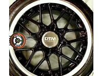 """17"""" Genuine DTM Lenso BMW alloys refurbished Blood Black Pearlescent/ Silver, great tyres."""